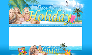 Thumbnail Perfect Holiday PSD Minisite HTML Graphics Ready Made Web Template
