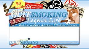 Thumbnail Quit Smoking PSD Minisite HTML Graphics Ready Made Web Template