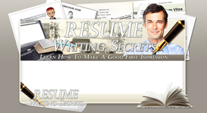 Thumbnail Resume Writing Secrets PSD Minisite HTML Graphics Ready Made Web Template