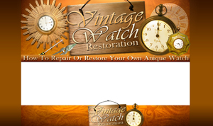 Product picture Vintage Watch Restoration PSD Minisite HTML Graphics Ready Made Web Template