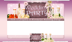 Product picture Wedding Party PSD Minisite HTML Graphics Ready Made Web Template