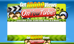 Product picture You Tube Views PSD Minisite HTML Graphics Ready Made Web Template