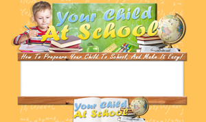 Product picture Your Child At School PSD Minisite HTML Graphics Ready Made Web Template